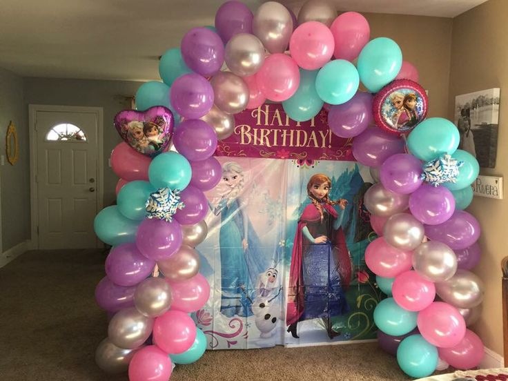 402 best images about balloon arches canopies 1 on for Frozen balloon ideas