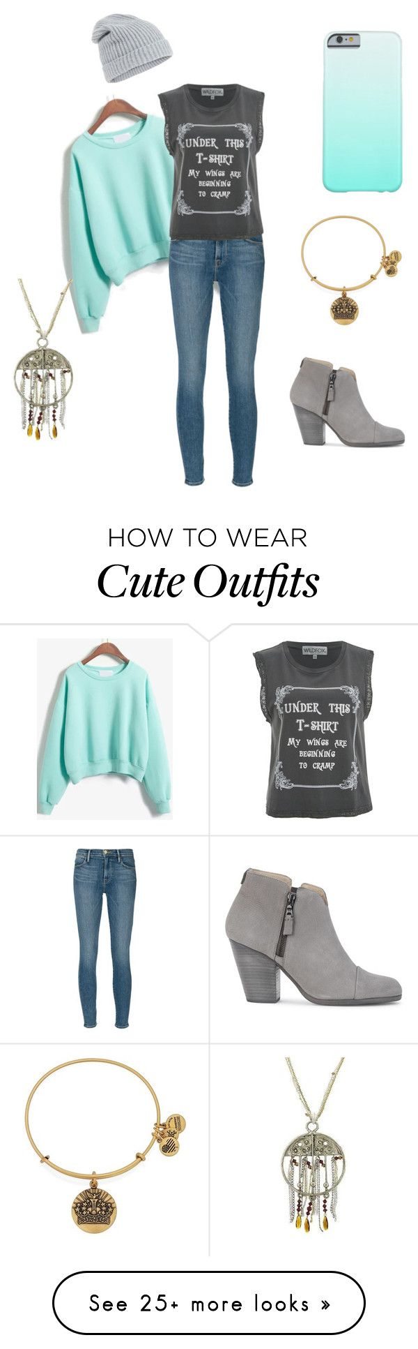 """""""Late night movie go to outfit"""" by acunningham1111 on Polyvore featuring Frame Denim, Wildfox, Accessorize, rag & bone, 1928 and Alex and Ani"""