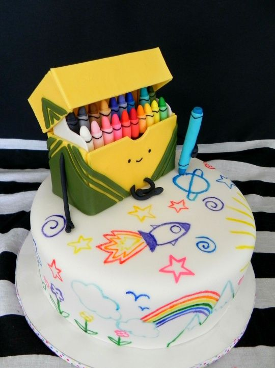 Cute Crayon Cake Art