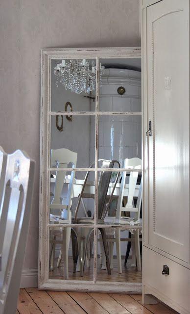 Salvaged Vintage Window to New Cottage Mirror !