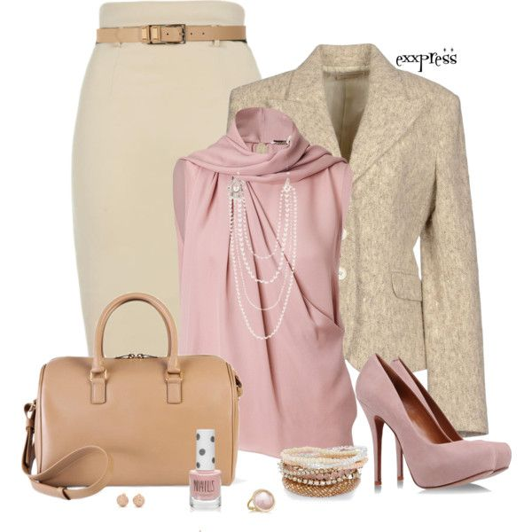 Classy Outfit: Classy Clothing, Dreams Closet, Fashion Style, Silk Neck Scarfs Outfits, Fashionista Trends, Work Outfits, Casual Outfits, Silk Scarves, Polyvore Classy Outfits