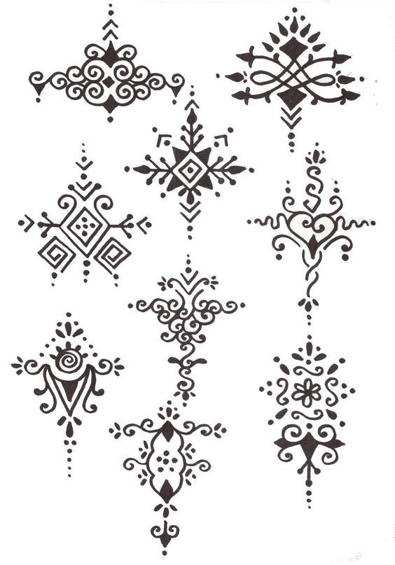Henna designs - some of these look like they might seem more complicated than they are...