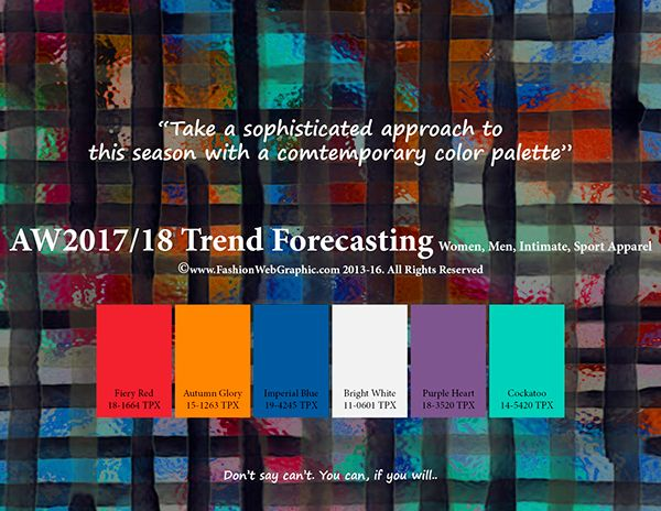 AW2017/2018 trend forecasting on Pantone Canvas Gallery