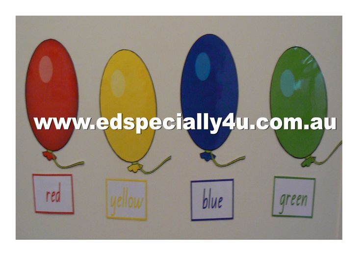 Balloon colour charts, with matching colour words written in the corresponding colour.  A great resource for display, direct instruction and hands on learning activities.  See our resources at www.edspecially4u.com.au