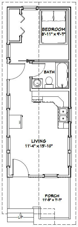 12x32 tiny house 12x32h1b 384 sq ft excellent on best tiny house plan design ideas id=71109