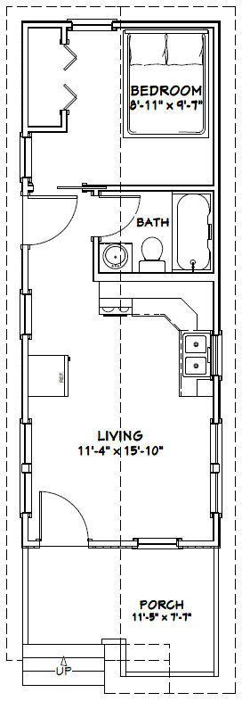 12x32 Tiny House 12x32h1b 384 Sq Ft Excellent