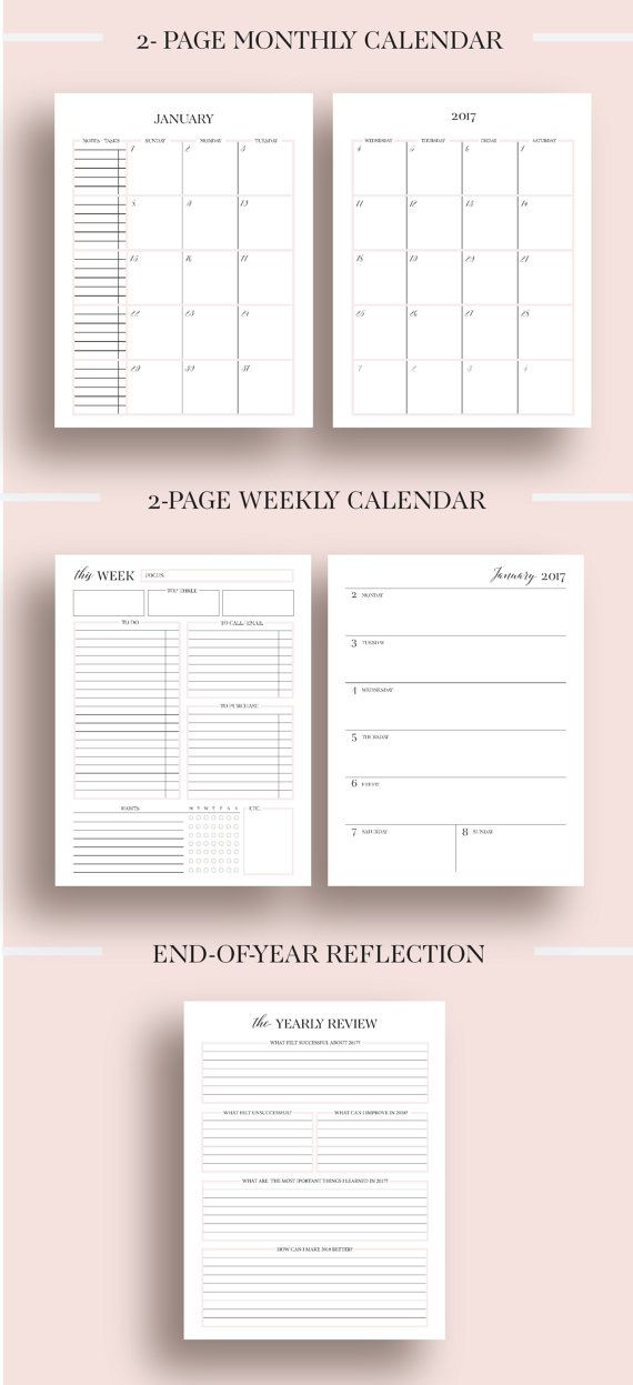 365 best Planners Pages images on Pinterest | Day planners, Agenda ...
