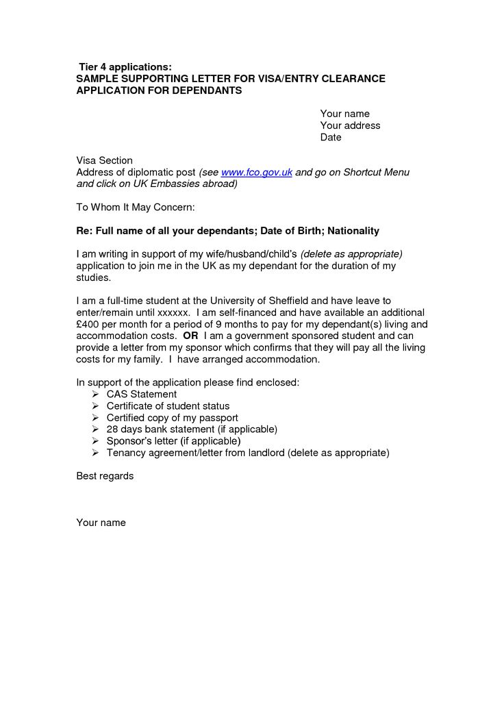 job letter template cover letter sample for uk visa application