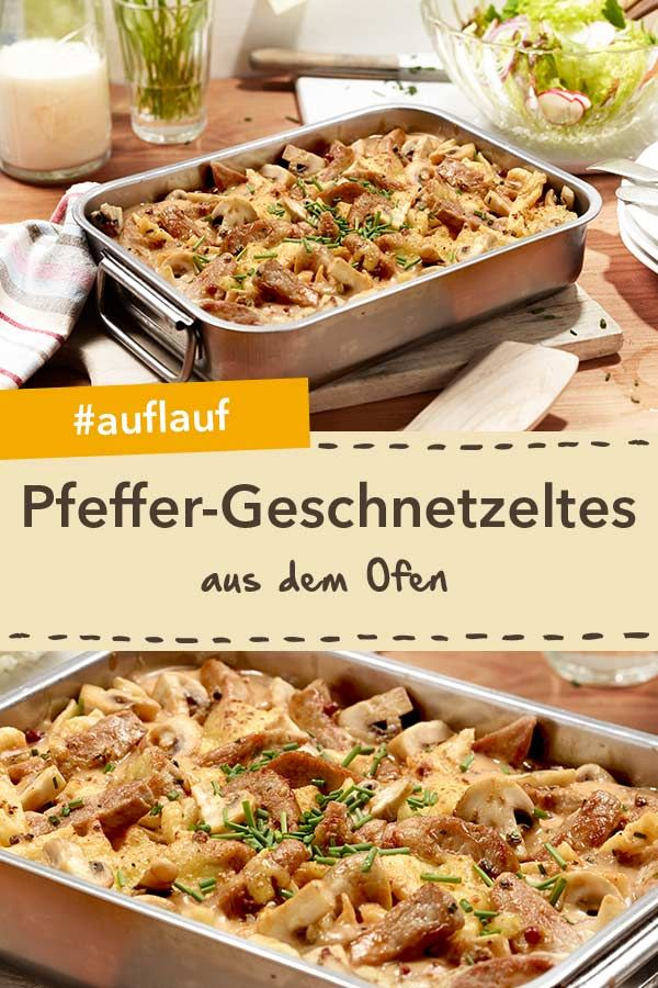 Pfeffer-Geschnetzeltes aus dem Ofen