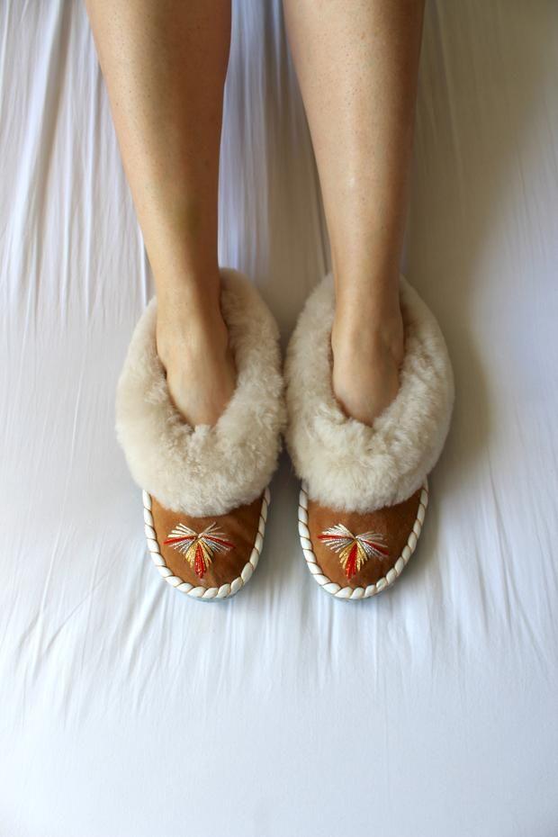 ONAIE Handmade Sheepskin Slippers and