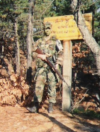 American soldier along the MDL