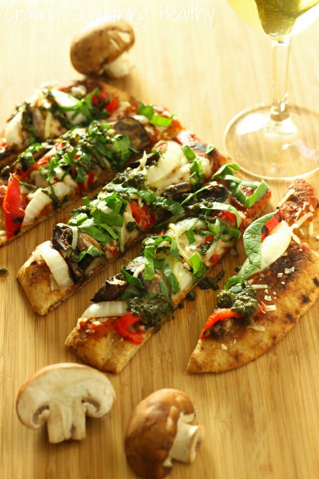 Grilled Vegetable Flatbread Pizza recipe | Craving Something Healthy