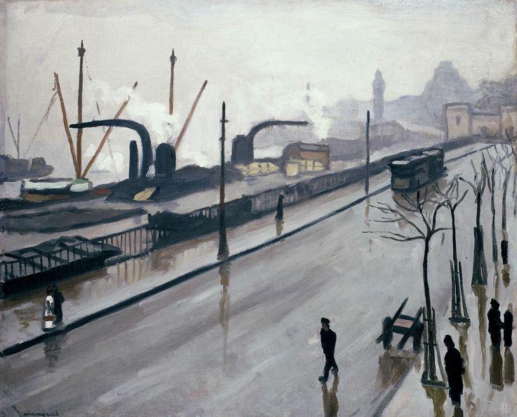 Albert Marquet (French, 1875-1947), Le port de Hambourg, 1909. Oil on canvas, 65 x 81 cm.
