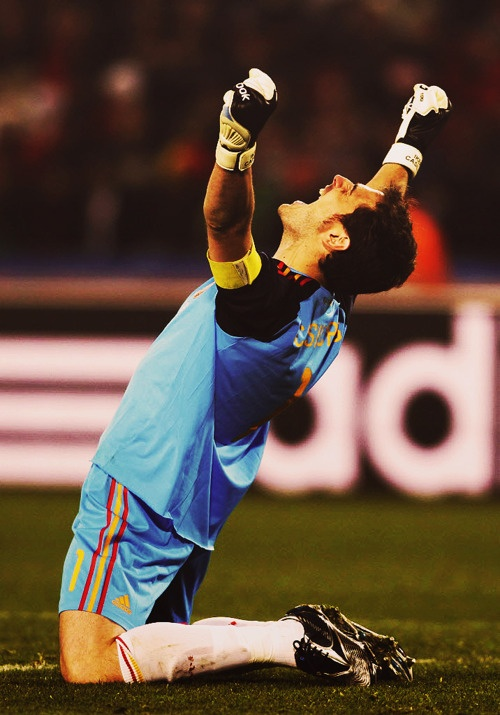 Iker Casillas- I can only dream of one day being as amazing as Casillas