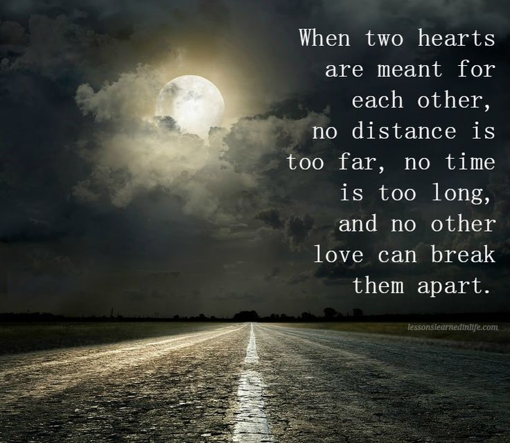 Distance And Time Quotes: When Two Hearts Are Meant For Each Other, No Distance Is