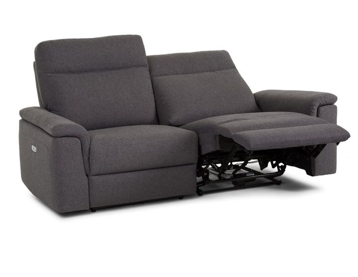 CORTEZ - Power recliner sofa - Dark Grey