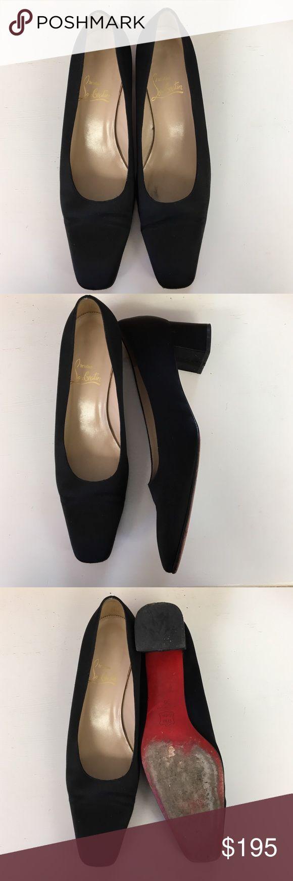 Black louboutins Chunky low heel Christian Louboutin Shoes
