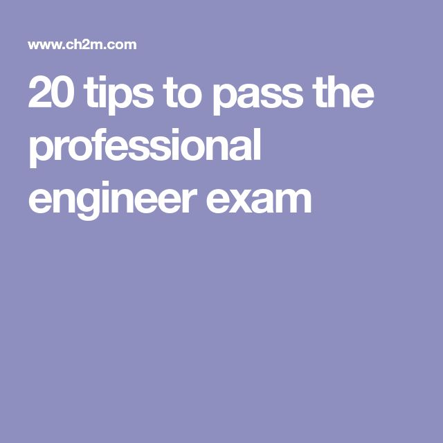 20 tips to pass the professional engineer exam
