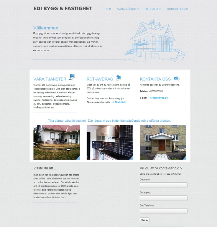 Webdesign for small construction company