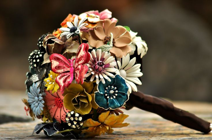CUSTOM MADE Wedding Jewelry Brooch Bouquet - to fit your color, style & budget, vintage bridal bouquet. $550.00, via Etsy.