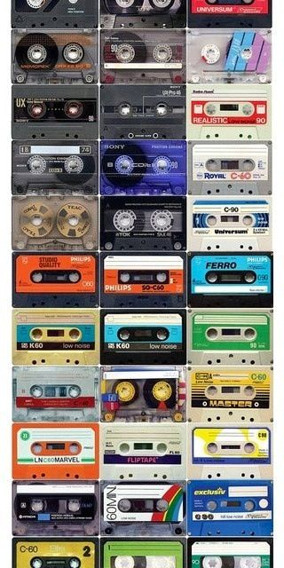 Cassette Tapes - EVERYBODY made at least 1 mix tape in the 80's n early 90's!