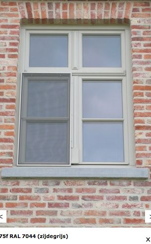 RAL 7044 SILK GREY window