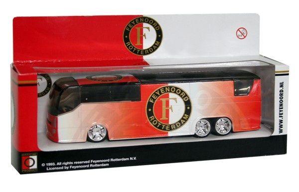 FEYENOORD: Spelersbus feyenoord Rood-Wit en logo
