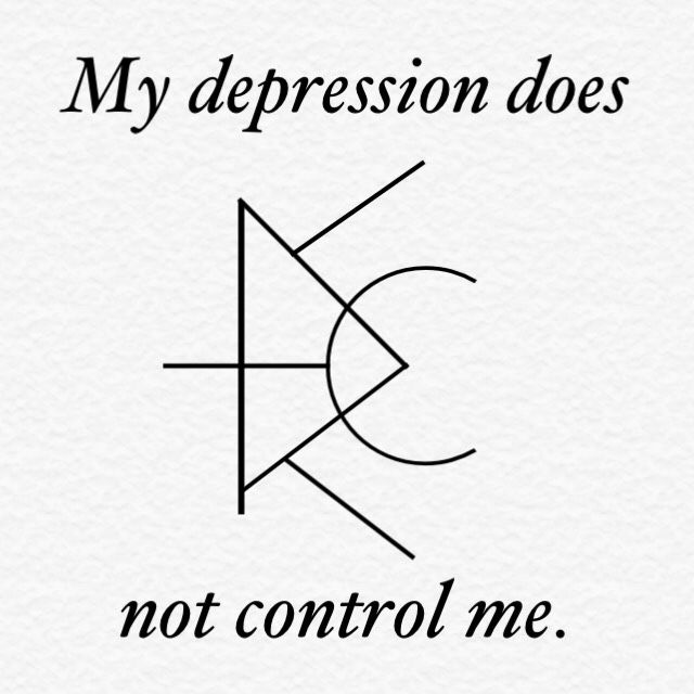 "taurean-witch: ""My depression does not control me. //  """