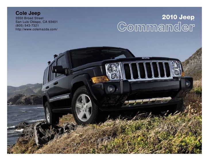 2010 Jeep  Commander Cole Jeep San Luis Obispo  CA