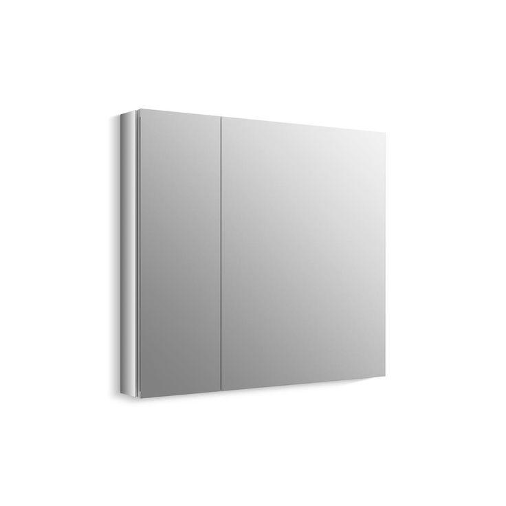 KOHLER Verdera 34 in. W x 30 in. H Recessed Medicine Cabinet in Anodized Aluminum