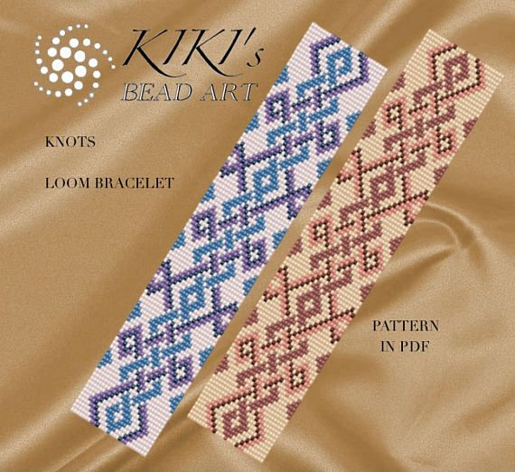Bead loom pattern  Knots Celtic inspired LOOM bracelet