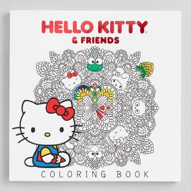 Color The Day Away With Our Hello Kitty Coloring Book Just Right For Fans Of Any Age It Depicts Dozens O Kitty Coloring Cat Coloring Book Hello Kitty Coloring