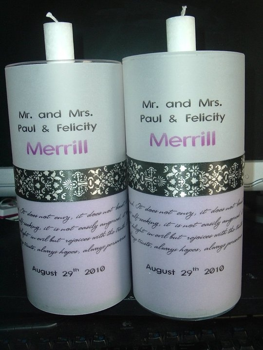 Diy Candle Votives Wedding Favors Here I Used 2 Glass Vases That