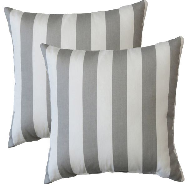 Sofa BedSleeper Sofa Premiere Home Gray Stripes inch Throw Pillow Set of