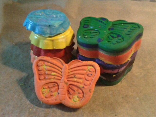 New life for old crayons - crayons for toddlers