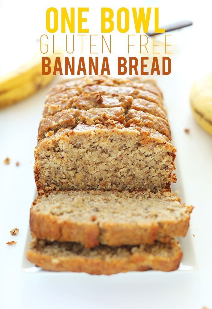 THE BEST GF Banana bread recipe I have ever made! This is my new go-to recipe. I only cooked it one hour and it was perfect!!! One Bowl Gluten Free Banana Bread Recipe! #glutenfree