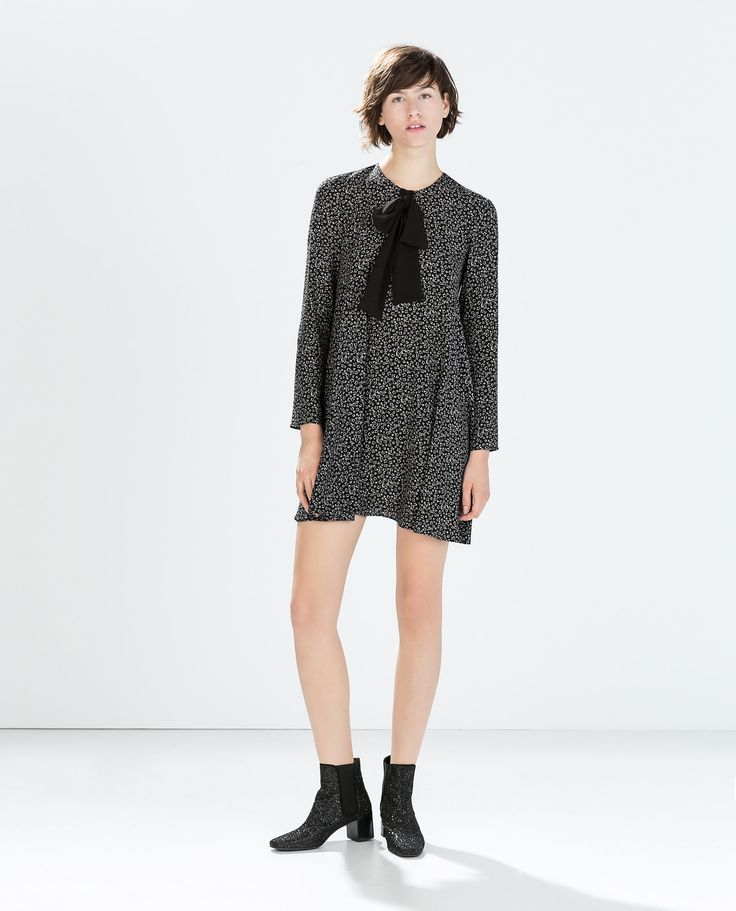 Zara Star print & bow tie dress - I think I wore something like this when I was a kid, but love it now too!