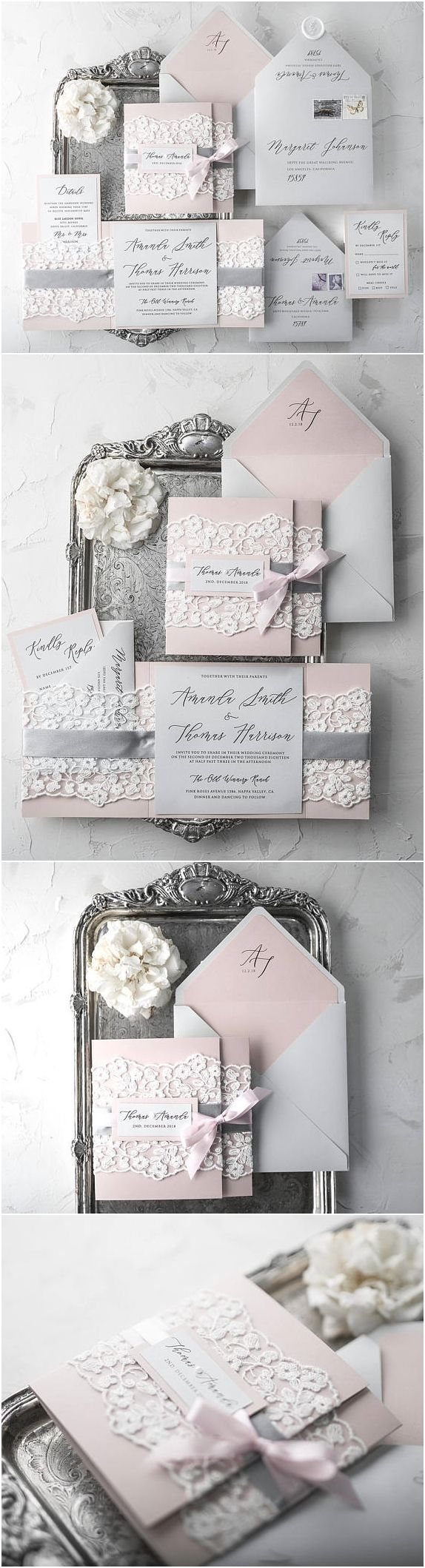 hindi poem for marriage invitation%0A Rustic Wedding Invitation Suite       Wedding Invitations Rustic  Lace Wedding  Invitations