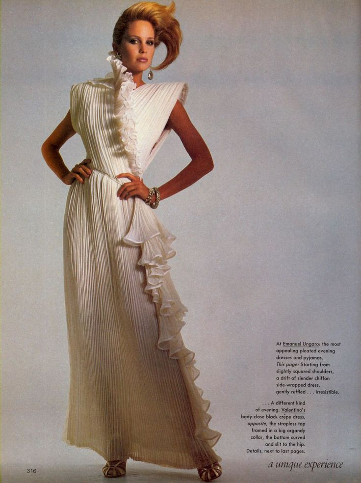 American Vogue April 1983 | Couture: The Unique Experience