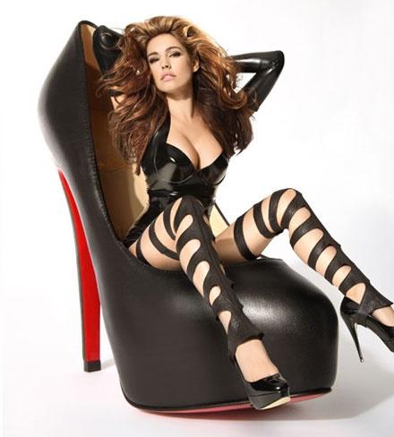 Kelly Brook Louboutin heels campaign