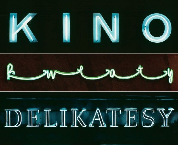 Illuminated Typography: Vintage Neon Signage In Warsaw - DesignTAXI.com