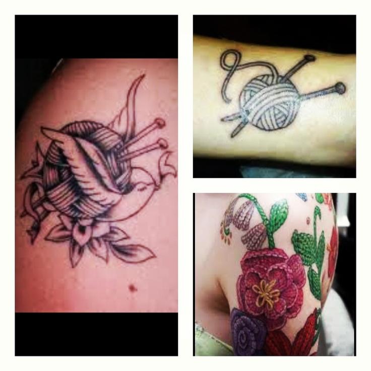 Knitting Tattoo Ideas : Knitting tattoos love pinterest