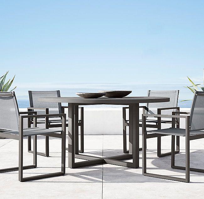 Aegean Aluminum Round Dining Table Round Dining Table Round