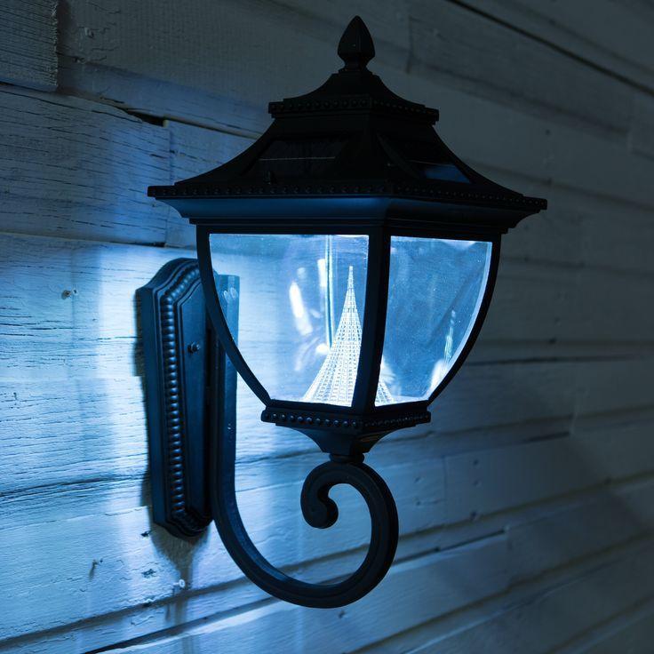 Gama Sonic Pagoda Wall Mount Solar Lamp Www Hayneedle Com Solar Wall Lights Solar Lamp Solar Lamps Diy
