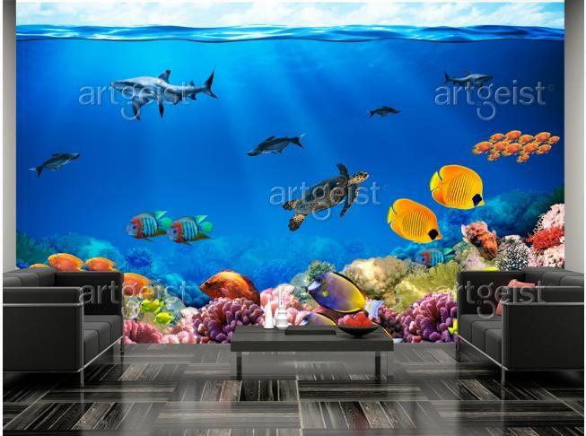 Fotomurale Regno sottomarino #fotomurali #fotomurale #design #decorazione #d'interni #carta #da #parati