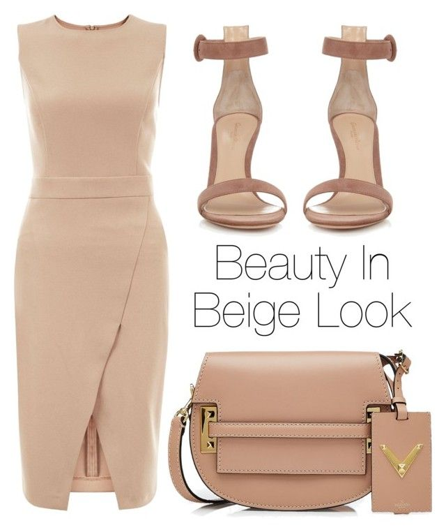 """Beige Outfit"" by kimbo20111 ❤ liked on Polyvore featuring New Look, Gianvito Rossi and Valentino"