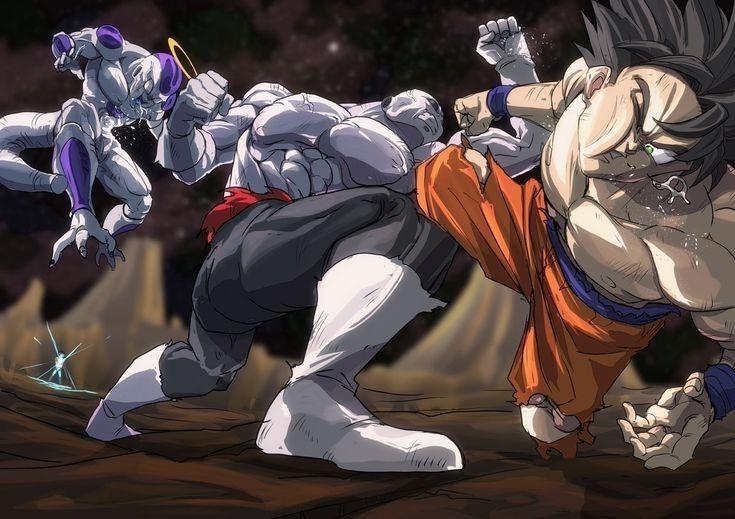 Goku Frieza And Android 17 Vs Jiren Anime Dragon Ball Super Dragon Ball Art Dragon Ball Artwork