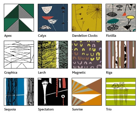 Lucienne Day mid 1950s textiles.