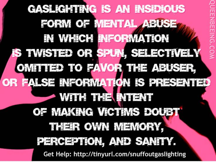 Image result for gaslighting make physical changes