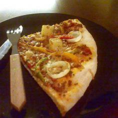 Pizza soijarouhetäytteellä